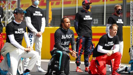 F1 drivers support Black Lives Matter movement ahead of British Grand Prix.