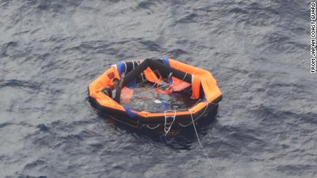 The man was found on Friday afternoon two kilometers (1.2 miles) from Japan's Kodakara Island.