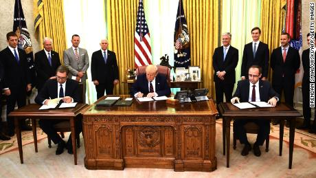 Serbia and Kosovo sign economic normalization agreement in Oval Office ceremony