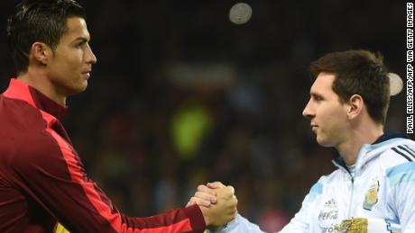 Lionel Messi edges out Cristiano Ronaldo at the top of football's rich list.
