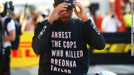 Lewis Hamilton 'won't stop' his fight against racism as FIA rules out investigation into Breonna Taylor T-shirt