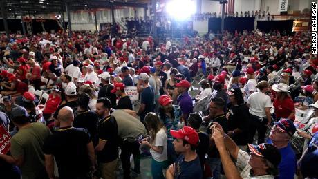 Supporters waited for Trump to speak Sept 13 in Henderson, Nevada.