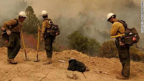 These are hotshots, firefighters on the foreground of the deadly California blaze