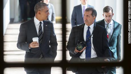 President Barack Obama with Chief White House Photographer Pete Souza in 2016. (Official White House Photo by Lawrence Jackson)