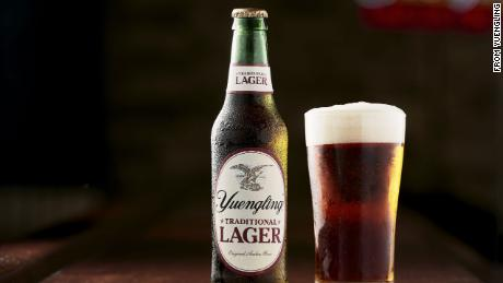 Bottle of Yuengling's traditional lager beer