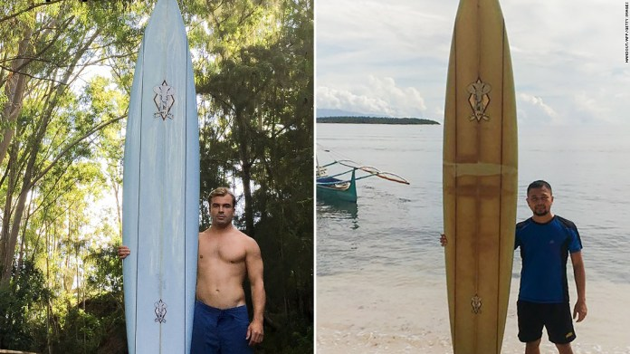 A surfer lost his board in Hawaii. It reappeared in the Philippines, more than 5,000 miles away