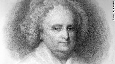 "The first ""first lady"" Martha Washington."