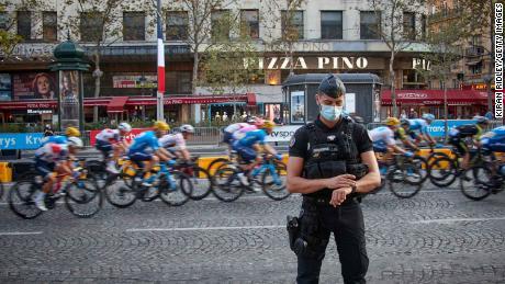 The final stage of the Tour de France races down Paris' Champs Elysees on Sunday.