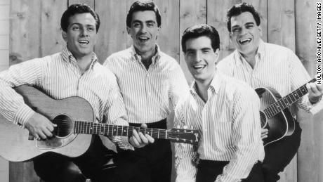 This promotional portrait of the The Four Seasons in 1965 shows, from left, Tommy DeVito, Frankie Valli, Bob Gaudio and Nick Massi.