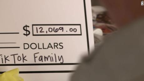 """Derlin Newey was shocked to find out his """"TikTok Family"""" raised over $12,000 for him."""