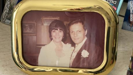Arlene Lebenthal's room is decorated with pictures of her family, including this one of her and her late husband, Michael Lebenthal.