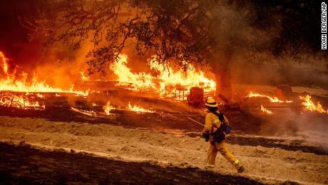 Glass Fire in Calistoga, California.