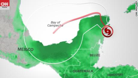 Tropical Storm Gamma makes landfall near Tulum