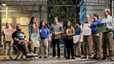 """The fifth season of """"Superstore"""" began with Mateo's coworkers holding a vigil after ICE detained him. The character is still undocumented as the show heads into its sixth season."""