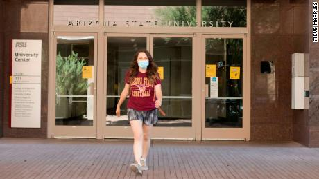University Center in downtown Phoenix used to be bustling with students going to class. Now, it's mostly empty.