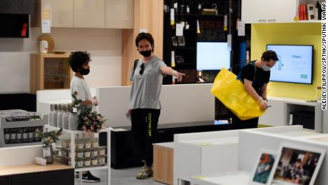 Online sales of IKEA increased as people converted homes into offices and schools