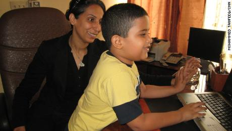 Nahla al-Nadawi worked as a radio host in Iraq when her husband was killed in a car bomb in 2007. Her autistic son, Ussayid, was six years old at the time.