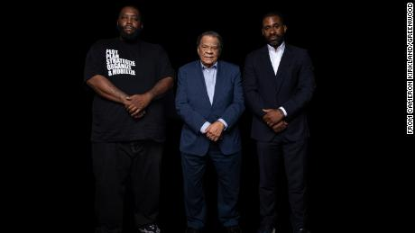 """From left, Greenwood bank founders Michael """"Killer Mike"""" Render, former Atlanta Mayor Andrew Young and Bounce TV founder Ryan Glover"""