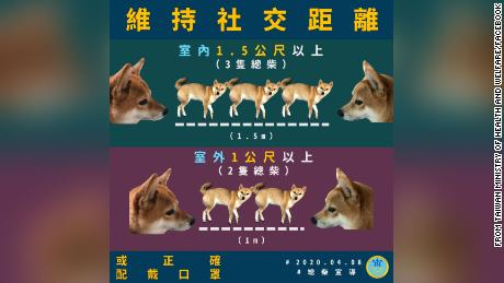 Taiwan's government deployed a cartoon spokesdog to help communicate its social distancing policy.