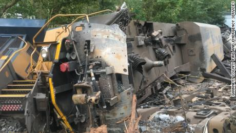 Two CSX employees were taken to the hospital after the derailment.