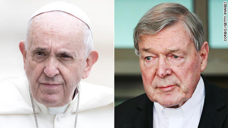 The Pope met Cardinal George Pell for the first time after his return from Rome
