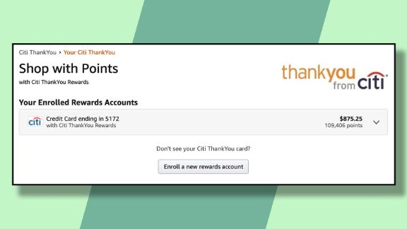 Enroll your Citi ThankYou credit card in Amazon's Shop With Points program.