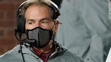 Alabama coach Nick Saban during the second half of the team's NCAA college football game against Mississippi last Saturday.