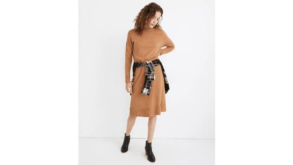 (Re)sourced Cashmere Mockneck Midi Sweater Dress