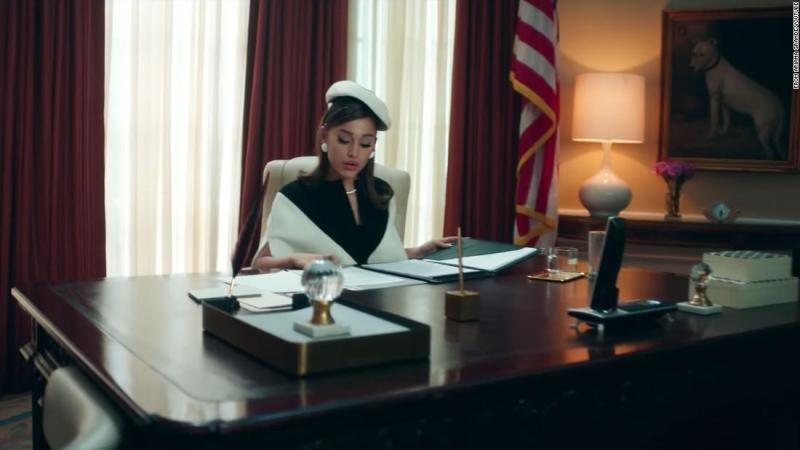 See Ariana Grande as POTUS in 'Positions'