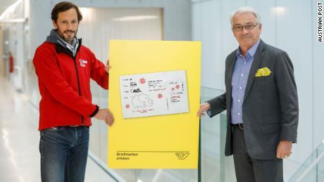 ไปรษณีย์ออสเตรียจะออกแสตมป์ 300,000 ดวงในวันที่ 30 ตุลาคม