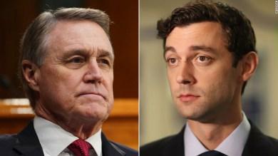 Perdue and Ossoff trade personal attacks in heated Georgia Senate debate