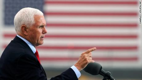 Pence under the radar as Trump fights for power