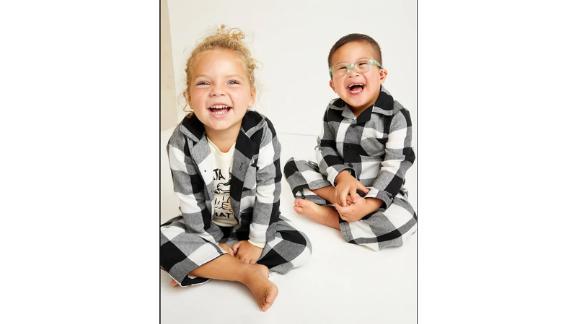 Unisex Plaid Pajama Set for Toddler & Baby