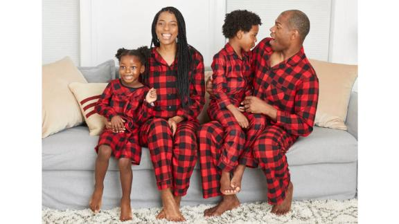 Holiday Red Buffalo Check Flannel Matching Family Pajamas Collection