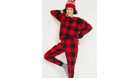 Patterned Micro Performance Fleece Pajama Set for Women