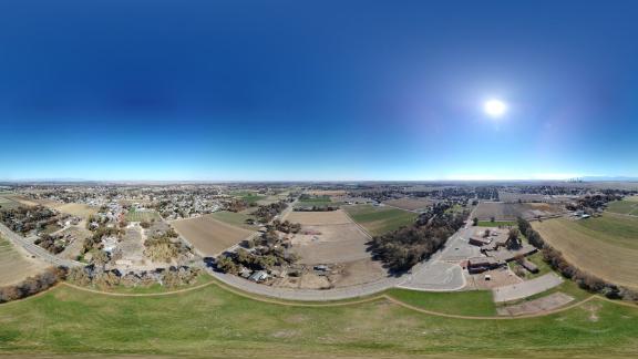 360-degree panoramic photo with the DJI Mavic Mini 2