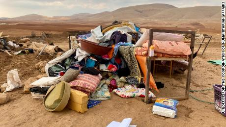 UN and EU have left 73 Palestinians homeless after Israel slammed the West Bank.