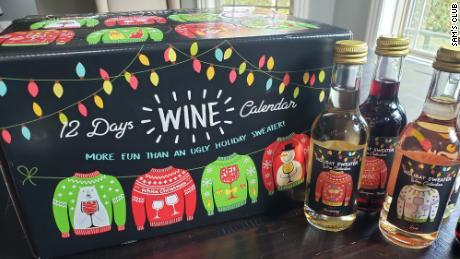 Sam's Club 2020 wine Advent calendar for $37.98 includes Cabernet Sauvignon, Chardonnay and Zinfandel wine.