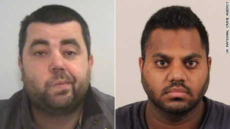 David John Walley, left, and Arsheed Ali Khan are among the fugitives detained in Britain, as law enforcement stepped up efforts during the epidemic.