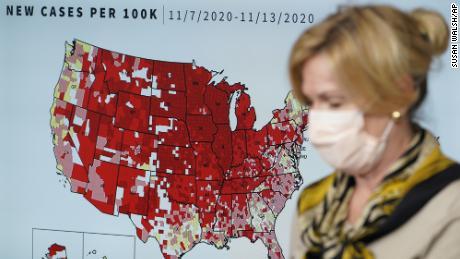 Dr Birx speaks at the White House Coronavirus Task Force briefing on Thursday.