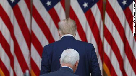 Pence calls Harris while Trump continues to deny