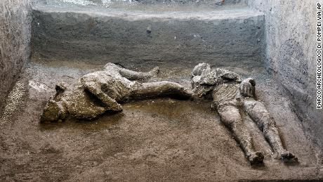 The bodies were found during recent excavations.