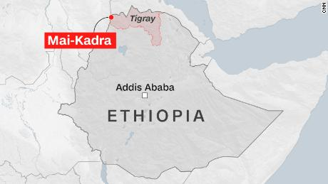 The Rights Commission says at least 600 civilians were killed in the northern Ethiopia massacre
