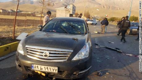 The scene were Moshen Fakhrizadeh died on Friday afternoon.