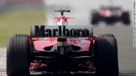 Ferrari featuring Marlboro at the 2005 Hungarian Grand Prix.