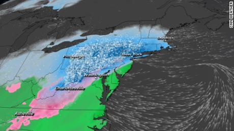 Snow is falling in the northeast.  Here is where the heaviest totals could be collected