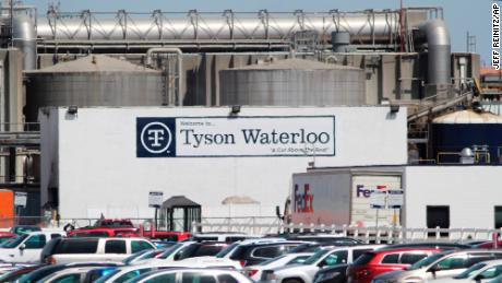 Tyson said on Wednesday it has fired seven managers at its Waterloo factory.