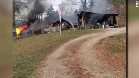 The fire devastated Davidson's home.
