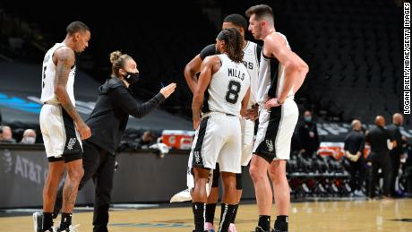 Heman was added to the team as an assistant in 2014, coaching the Spurs on Wednesday, becoming the first woman to hold a full-time coaching position in the NBA.
