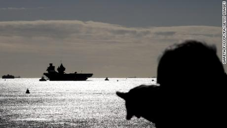 The Royal Navy aircraft carrier HMS Queen Elizabeth arrives back in Portsmouth Naval Base last fall after taking part in major exercises off Scotland with F-35B Lightning jets to prepare it for Carrier Strike Group readiness ahead of its first operational deployment.